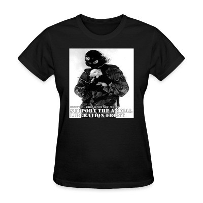 T-shirt féminin Support the animal liberation front