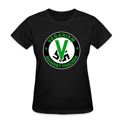 T-shirt féminin Veganism against fascism