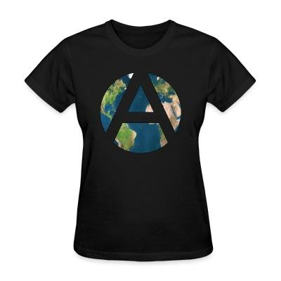 T-shirt féminin Worldwide Anarchism