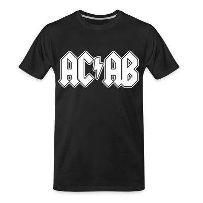 T-shirt organique ACAB ACDC