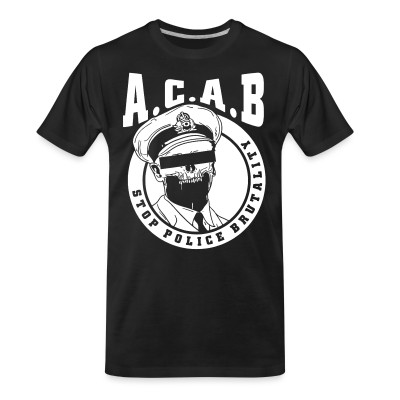 T-shirt organique Acab / Stop police brutality
