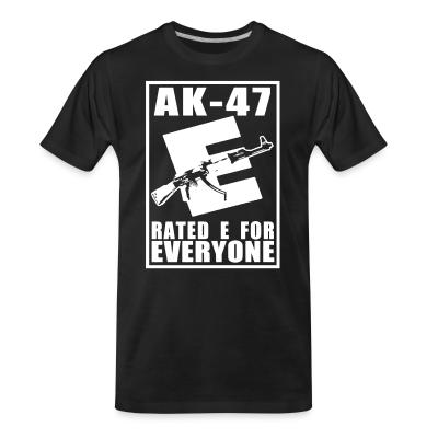 T-shirt organique AK-47 - Rated E for Everyone