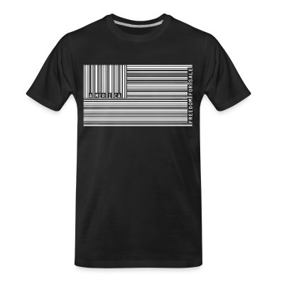 T-shirt organique America freedom for sale