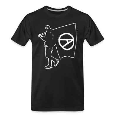 T-shirt organique Anarchist with Flag
