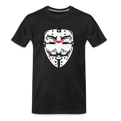 T-shirt organique Anonymous mask Friday 13th
