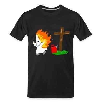 T-shirt organique Anti-KKK (Ku Klux Klan)