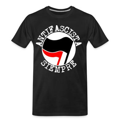T-shirt organique Antifascista siempre