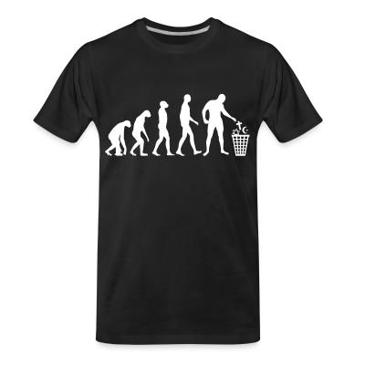 T-shirt organique Atheist evolution