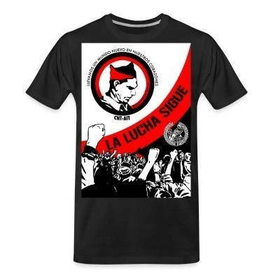 T-shirt organique CNT-AIT la lucha sigue