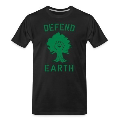 T-shirt organique Defend earth