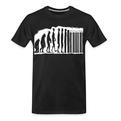 T-shirt organique Evolution barcode