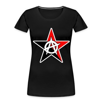 Organique Femmes Black & Red Anarchist Star