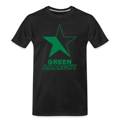 T-shirt organique Green anarchy