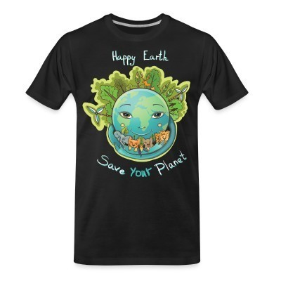 T-shirt organique Happy earth save your planet