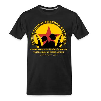 T-shirt organique International freedom battalion