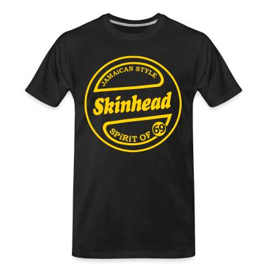 T-shirt organique Jamaican style Skinhead. Spirit of 69