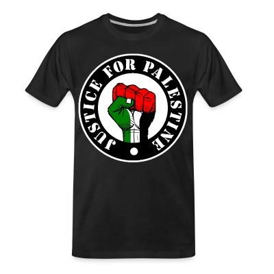 T-shirt organique Justice for palestine