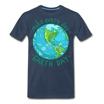 T-shirt organique Make every day earth day
