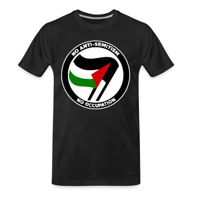 T-shirt organique No anti-semitism no occupation