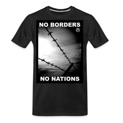T-shirt organique No borders no nations