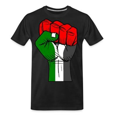 T-shirt organique Palestine Raised Fist