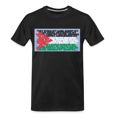 T-shirt organique Palestine - They stole my land