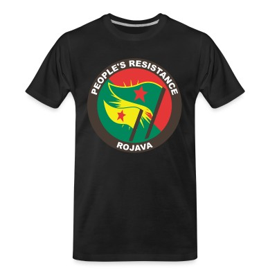 T-shirt organique People's resistance. Rojava