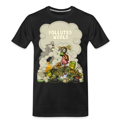 T-shirt organique Polluted world