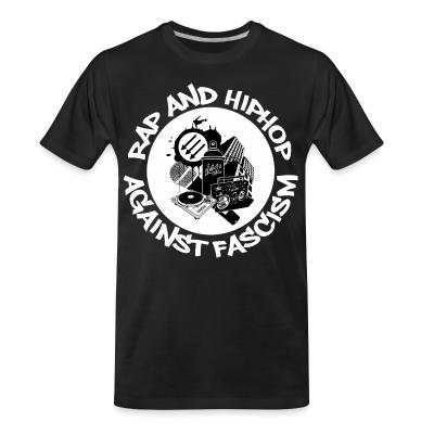 T-shirt organique Rap and HipHop against fascism