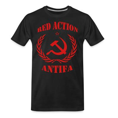 T-shirt organique Red action antifa