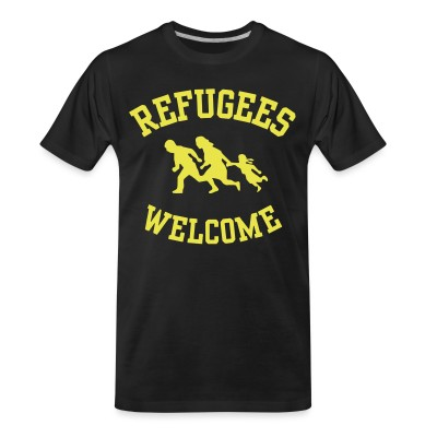 T-shirt organique Refugees welcome