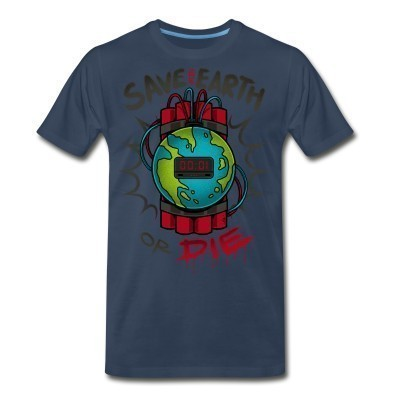 T-shirt organique Save the earth or die