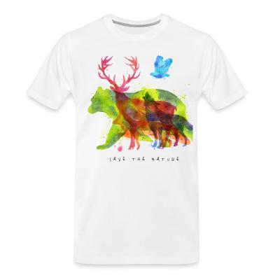 T-shirt organique Save the nature