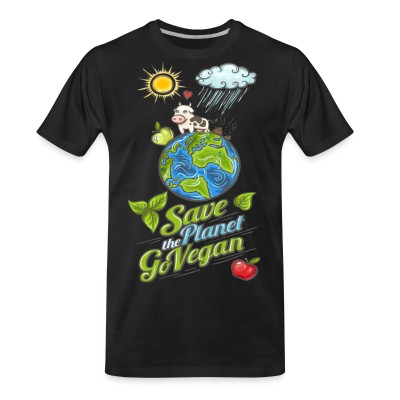 T-shirt organique Save the planet go vegan