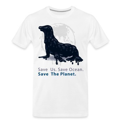 T-shirt organique Save us. Save ocean. Save the planet.