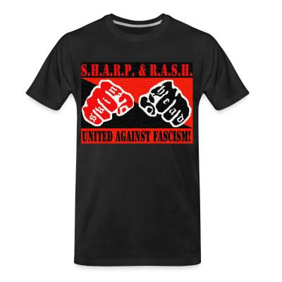 T-shirt organique SHARP & RASH united against fascism!