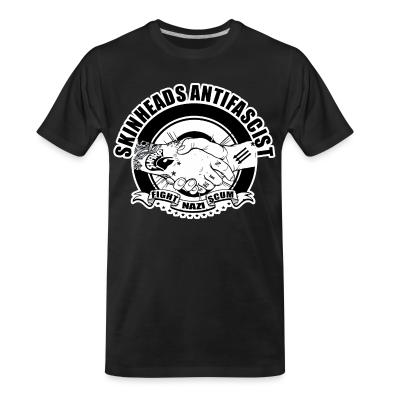 T-shirt organique Skinheads antifascist - fight nazi scum