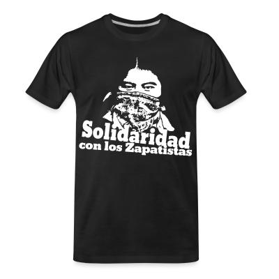 T-shirt organique Solidaridad con los Zapatistas