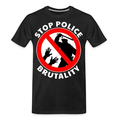 T-shirt organique Stop police brutality