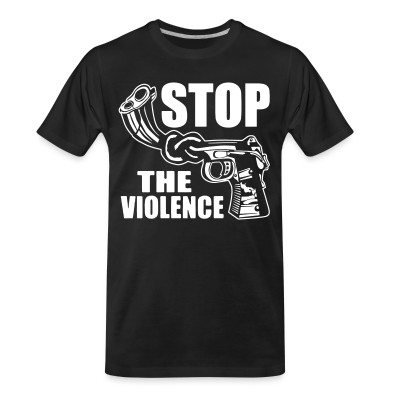 T-shirt organique Stop the violence