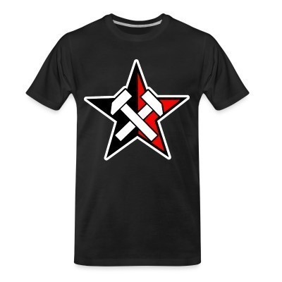 T-shirt organique Working Class Black & Red Star