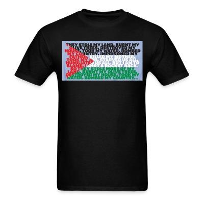 T-shirt Palestine - They stole my land