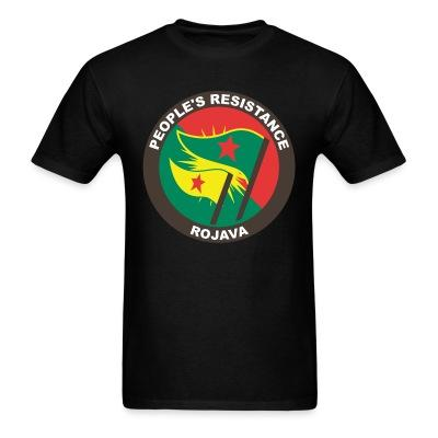 T-shirt People's resistance. Rojava