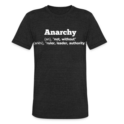 Produit local Anarchy definition: without ruler, leader, authority