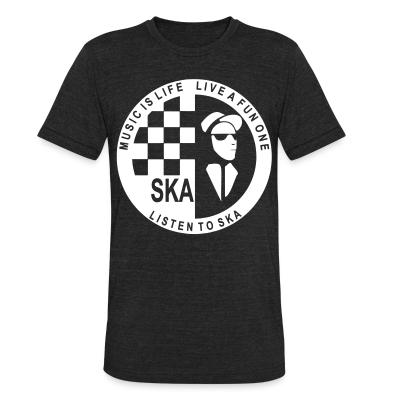Produit local Music is life, live a fun one - listen to ska