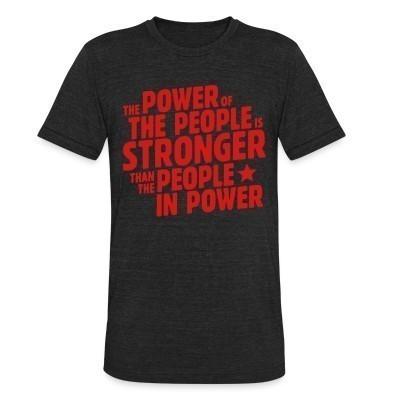 Produit local The power of the people is stronger than the people in power