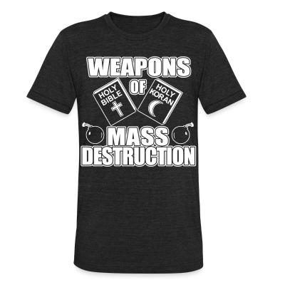 Produit local Weapons of mass destruction - holy bible holy koran