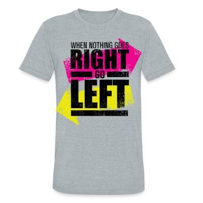 Produit local When nothing goes right go left