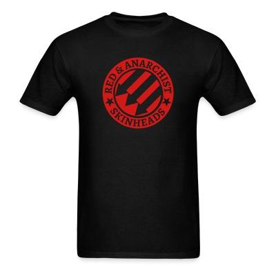 T-shirt Red & anarchist skinheads