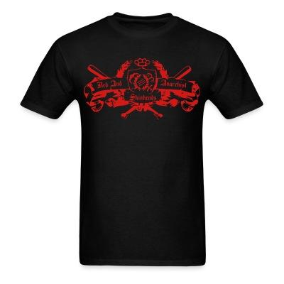 T-shirt Red and anarchist skinheads